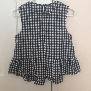 Black and white gingham urban outfitters peplum